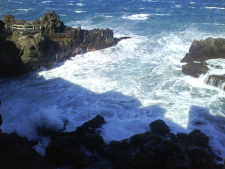 Teneriffa - Ufer unter Wasser wegen Unwetter