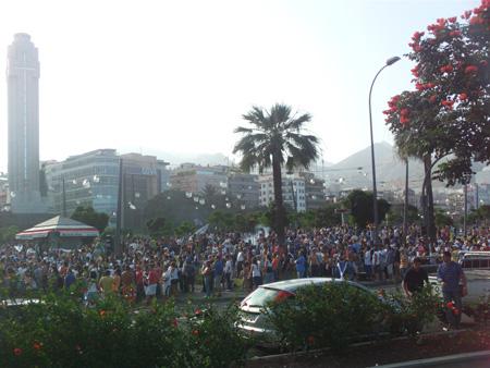 Die Fans feiern eine Fiesta