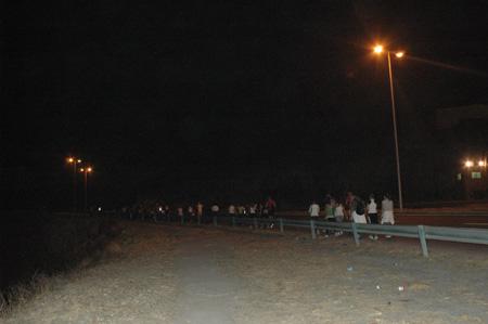Pilgerung entlang der Autobahn