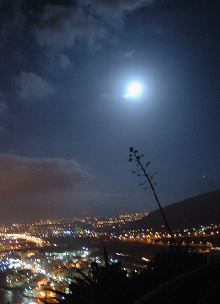Ostküste in der Nacht, Teneriffa