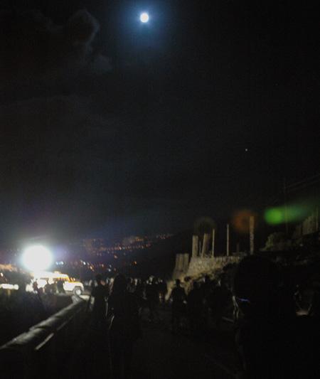 Blick zurück - nachts in Candelaria