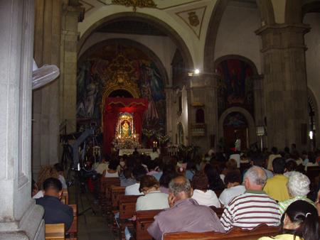 Gottesdienst bei der Nachtwanderung in Candelaria
