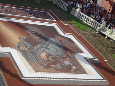 Sandteppich Moses, Fiesta del Corpus Cristi