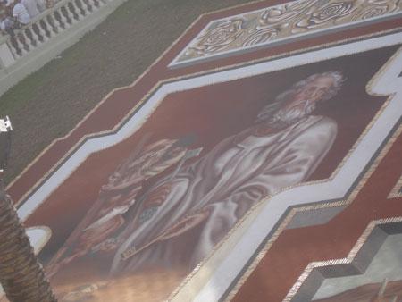 Sandteppich Petrus, Fiesta del Corpus Cristi