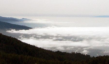 Horizontaler Regen und La Palma