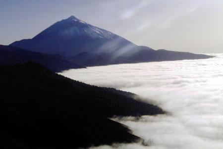 Horizontaler Regen unter Teide