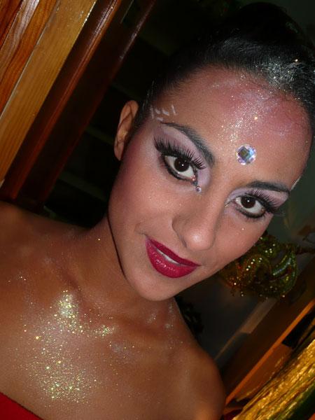 Vanesa geschminkt für die Gala