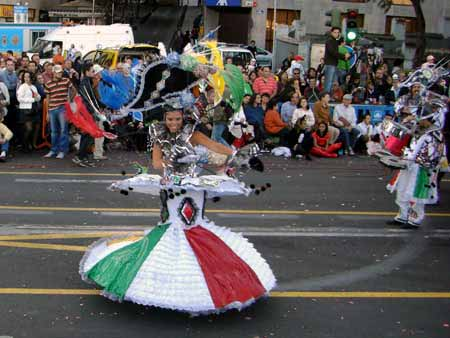 Tänzerin Karnevalsumzug