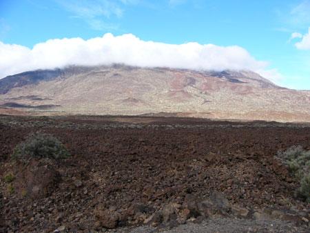 Lavalandschaft auf dem Vulkan Teide auf Teneriffa