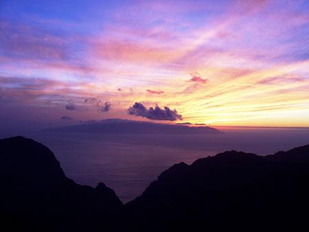 La Gomera, Sonnenuntergang