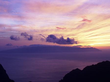 Sonnenuntergang, La Gomera