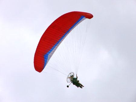Motor-Paraglider in Puerto de la Cruz