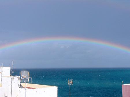 Regenbogen in Puerto de la Cruz