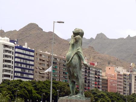 Statue im Zentrum, Santa Cruz de Tenerife
