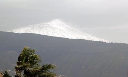 Teide - Erster Schnee Januar 2007, Teneriffa