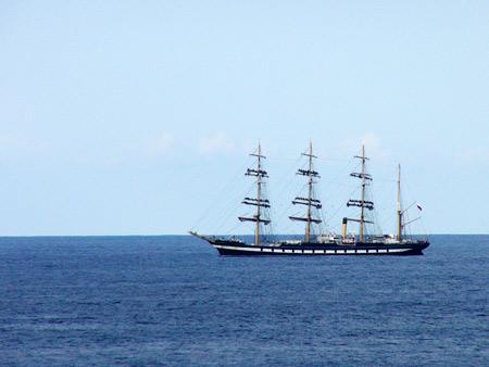 'Krusenstern Segelschiff - Teneriffa Dreharbeiten für einen Film