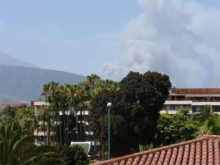 Brand auf Teneriffa