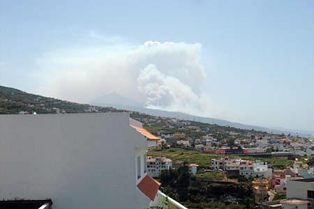 Waldbrand von Santa Ursula aus
