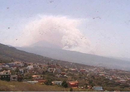 Waldbrand von La Matanza aus