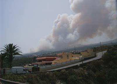 Brand von Icod auf Teneriffa