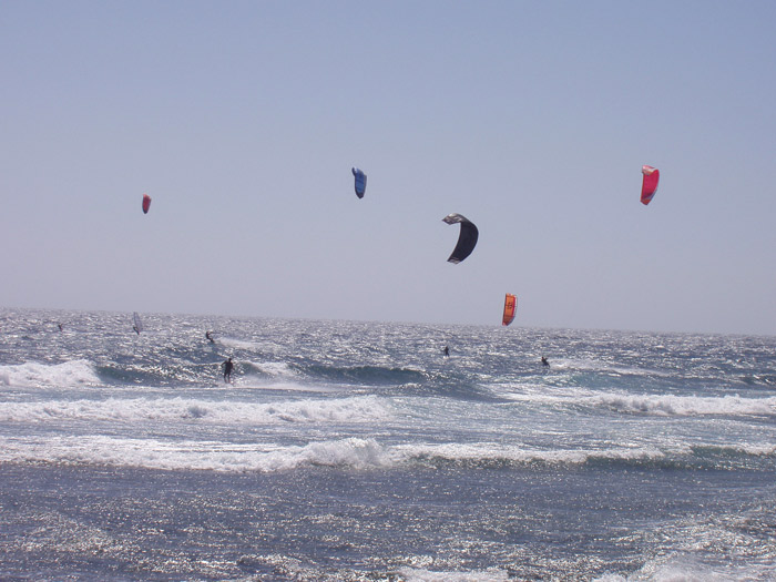 Kitesurfer in El Medano - Teneriffa