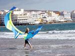 Kitesurfen in El Medano, im Süden von Teneriffa
