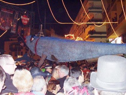 Beerdigung der Sardine in Puerto de la Cruz, Tenerife