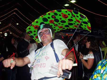 Paraglider-Kostüm, Karneval in Puerto de la Cruz - Teneriffa