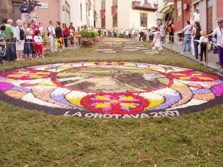 Blumenteppiche in La Orotava, Fiestas del Corpus Cristi 2007 - Teneriffa