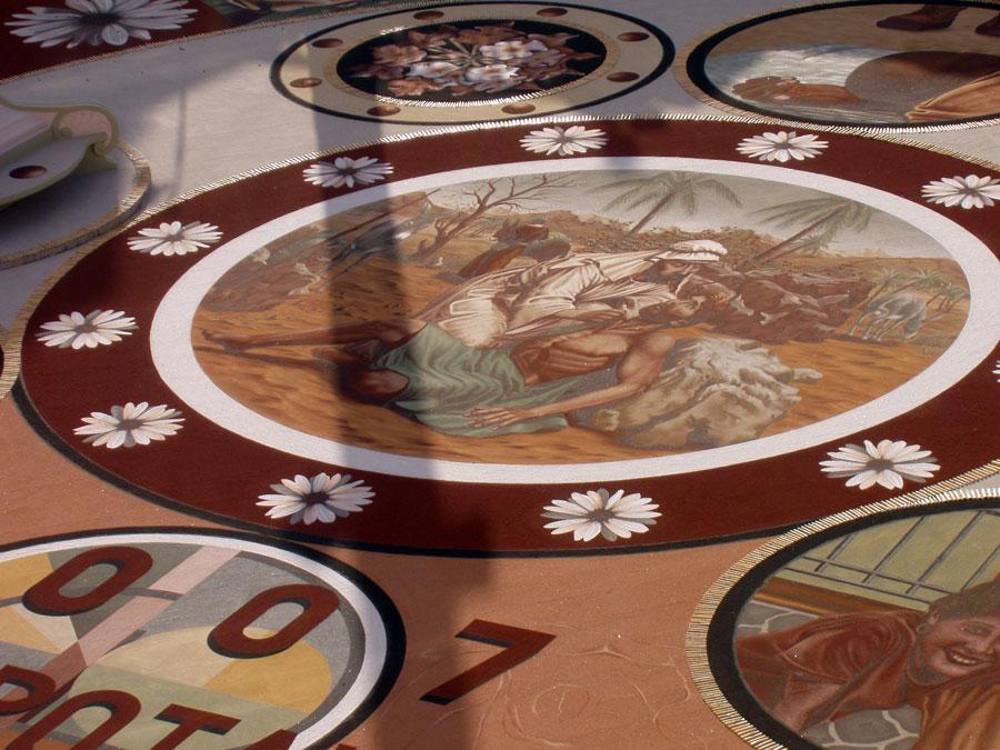 Sandteppiche in La Orotava 2007 - Teneriffa