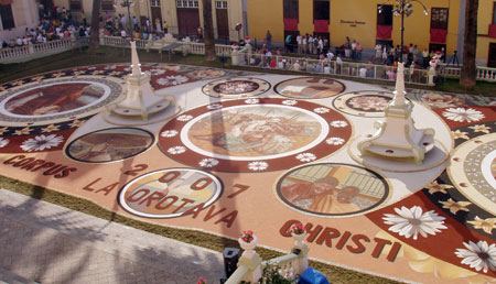 Sandteppiche in La Orotava - Fiestas del Corpus Cristi 2007 - Teneriffa