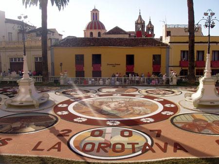 Sandteppiche in La Orotava, Fiestas del Corpus Cristi - Teneriffa