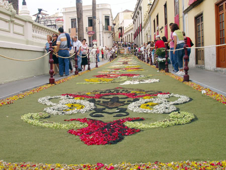Blumenteppiche La Orotava, Fiestas del Corpus Cristi