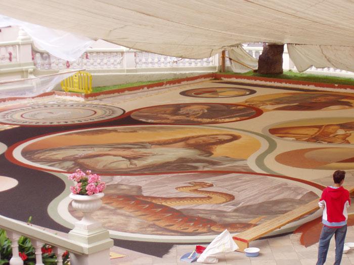 Sandteppich, linke Seite, La Ororava