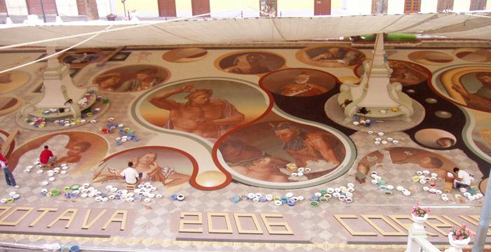 Sandteppiche in La Orotava - Teneriffa