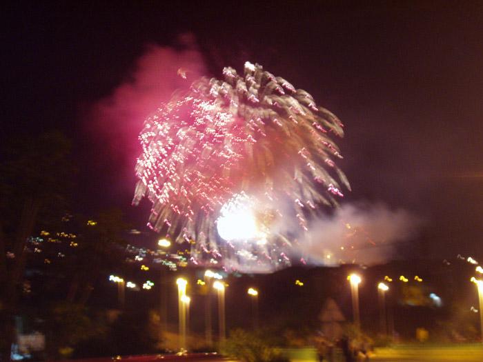 Feuerwerk in Los Realejos - Teneriffa