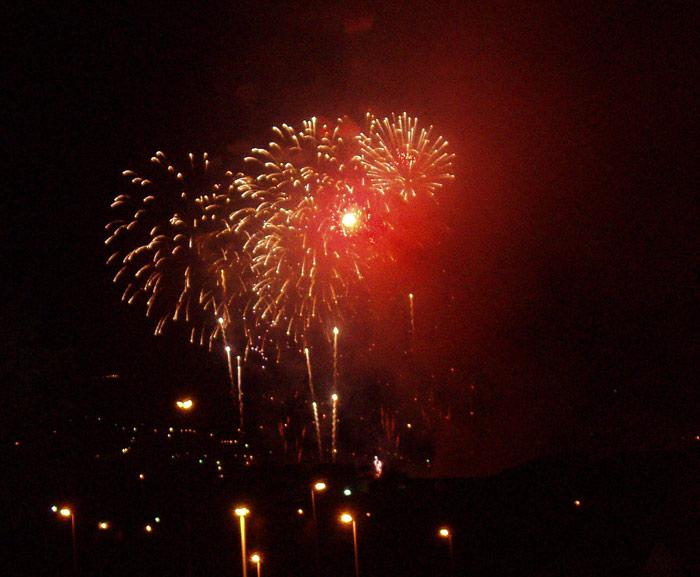 Feuerwerk Fiesta de la Cruz