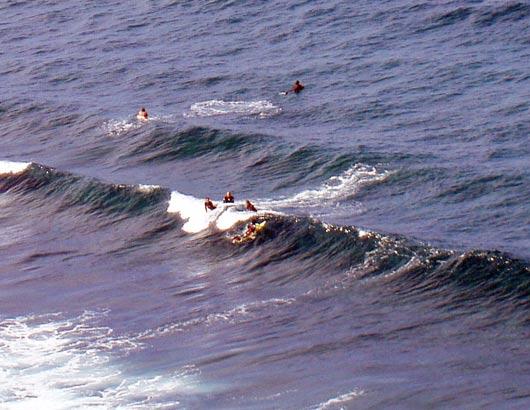 Surfen am Playa el Socorro, Los Realejos - Teneriffa