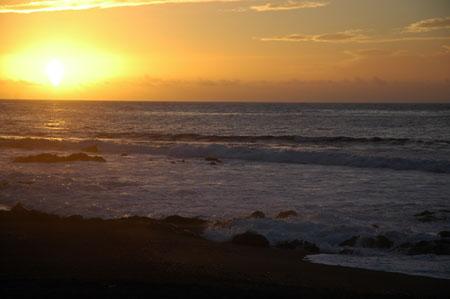 Sonnenuntergang aus Playa Jardin, Puerto de la Cruz
