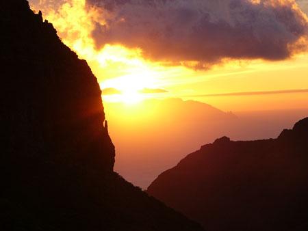 Sonnenuntergang Teno Gebirge La Gomera