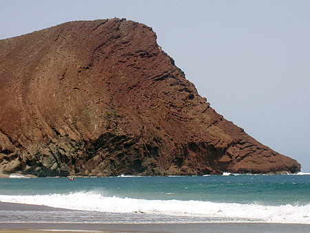 Montaña Roja Naturstrand, natürlicher Strand in El Medano