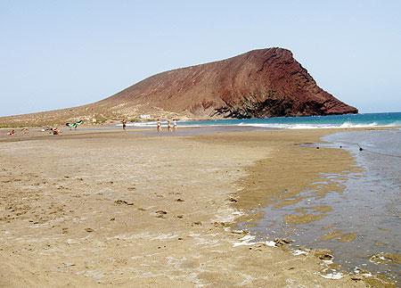 La Playa de la Tejita in El Medano, Teneriffa