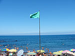 Grüne Flagge in Playa Jardin, Puerto de la Cruz