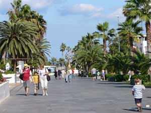 Die Promenade in Puerto de la Cruz, Teneriffa