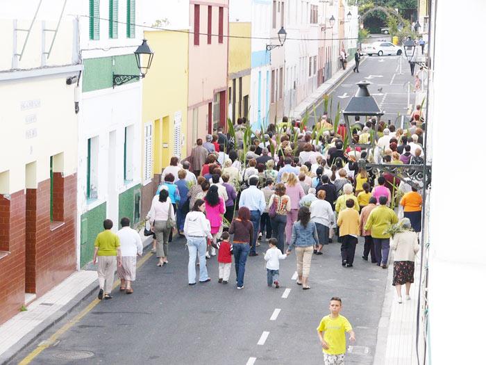 Prozession am Palmsonntag, Punta Brava, Puerto de la Cruz - Teneriffa
