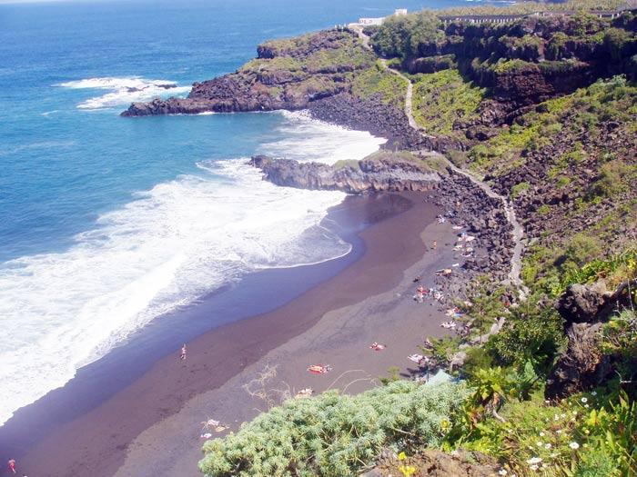 Playa del Bollullo von oben - Teneriffa