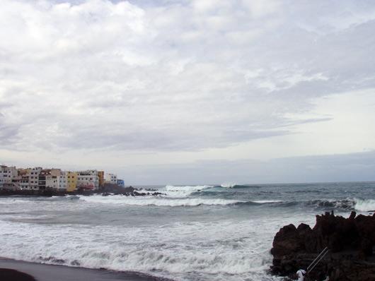 Wellen in Punta Brava