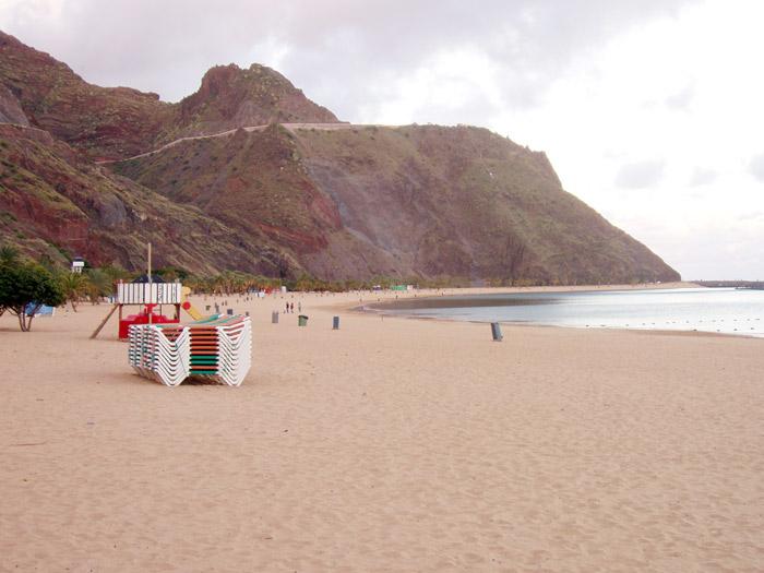 Strand Playa de las Teresitas, Santa Cruz - Teneriffa