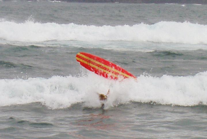 Anne, die Surflehrerin - Wie  man es nicht machen soll ...;)