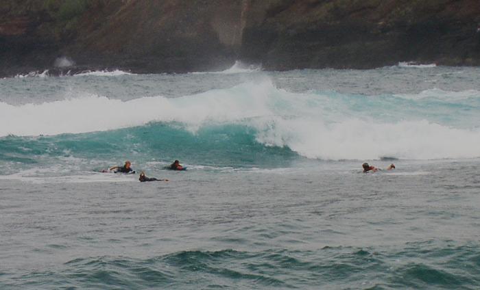 Surfen am Playa Martianez, Puerto de la Cruz